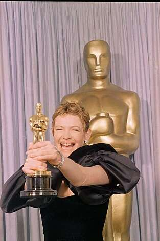 "Dianne Wiest breaks out in big grins as she proudly displays the Oscar she received for best supporting actress during the 59th Annual Academy Awards March 30, 1987 in Los Angeles. Ms. Wiest received her honor for her portrayal in ""Hannah and her Sister.""(AP Photo/Lennox Mclendon) Photo: Anonymous"