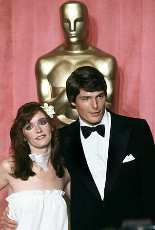 "Actress Margot Kidder, left, and actor Christopher Reeve pose in front of Oscar at the 51st Annual Academy Awards ceremony in Los Angeles, Calif., April 9, 1979.  Kidder portrayed Lois Lane opposite Reeve in ""Superman. The Movie received an award for special achievement and received nominations for film editing, best original score and best original sound.""  (AP Photo/Reed Saxon) Photo: Reed Saxon"