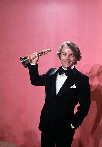 "John C. Avildsen shows off the Oscar he won for best director for his motion picture ""Rocky,"" at the annual Academy Awards in Los Angeles, Calif., on March 28, 1977. (AP Photo) Photo: Pendergrass"