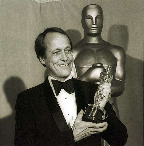 "George Roy Hill displays Oscar he received April 3,1974 for Best Achievement in Directing for the film""The Sting,"" at the annual Academy Awards in Los Angeles. ""The Sting"" was named Best Picture of the Year.(AP Photo)"