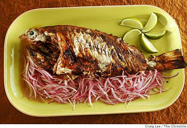 Pescado Zarandeado (whole snapper) in San Francisco, Calif., on February 12, 2009. Food photo Shannon Shaffer. Photo: Craig Lee, The Chronicle