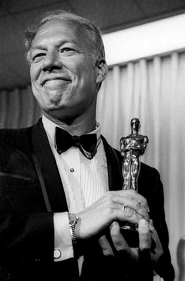 "George Kennedy with his Oscar in Santa Monica, Calif, after he was presented with it as best supporting actor in 1968. He won the award for his role in the film ""Cool Hand Luke."""