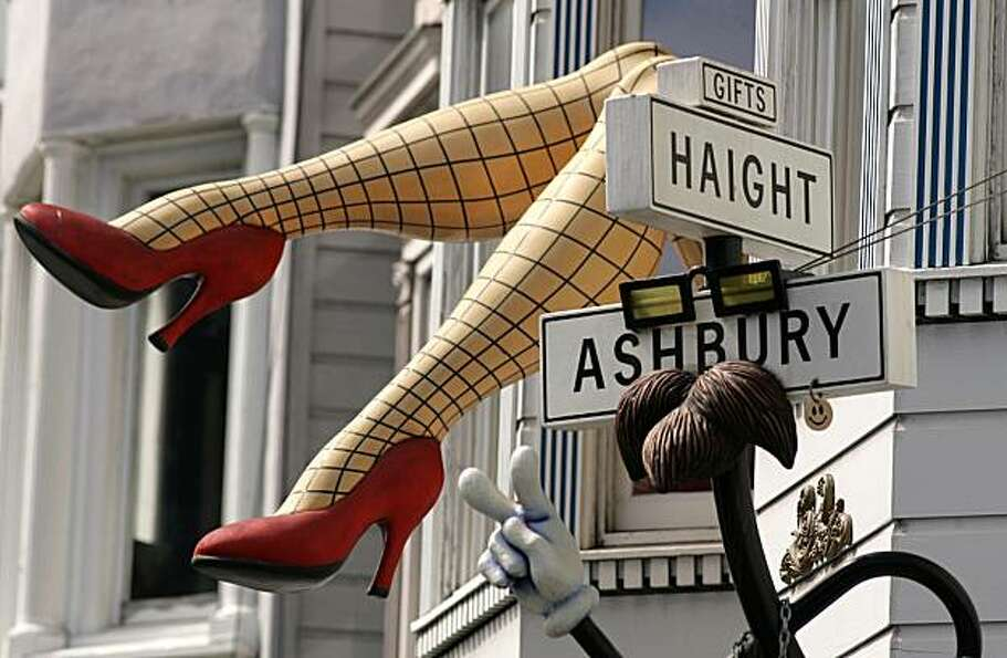 The storefront of the Haight Ashbury Gift Shop, along Haight Street.