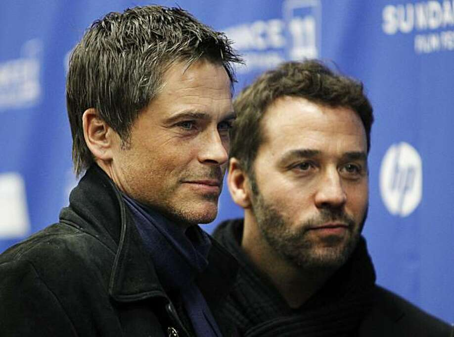 """Actors and cast members Rob Lowe, left, and Jeremy Piven, right pose at the premiere of """"I Melt With You"""" during the 2011 Sundance Film Festival in Park City, Utah on Wednesday, Jan. 26, 2011. Photo: Danny Moloshok, AP"""