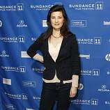 """Actress Daphne Zuniga poses at the premiere of """"Miss Representation"""" during the 2011 Sundance Film Festival in Park City, Utah on Saturday, Jan. 22, 2011."""