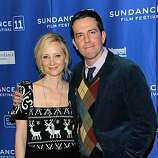 """PARK CITY, UT - JANUARY 23: Actors Anne Heche (L) and Ed Helms attend the """"Cedar Rapids"""" Premiere at the Eccles Center Theatre during the 2011 Sundance Film Festival on January 23, 2011 in Park City, Utah."""