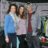 PARK CITY, UT - JANUARY 23: (L-R) Actress Andie MacDowell, daughter Rainey Qualley and actor Michael Copon attend Oakley Learn to Ride Fueled by Muscle Milk on January 23, 2011 in Park City, Utah.  (Photo by Michael Loccisano/Getty Images for Muscle Milk)