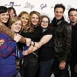 """Honoree Amy Seimetz, fifth from left, poses with other cast members from the film """"The Off Hours"""" at a party honoring """"7 Fresh Faces in Film"""" during the 2011 Sundance Film Festival in Park City, Utah on Friday, Jan. 21, 2011."""