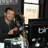 PARK CITY, UT - JANUARY 21:  Television personality Ryan Seacrest broadcasts his morning radio show at the Bing Bar on January 21, 2011 in Park City, Utah.  (Photo by Michael Buckner/Getty Images for Bing)