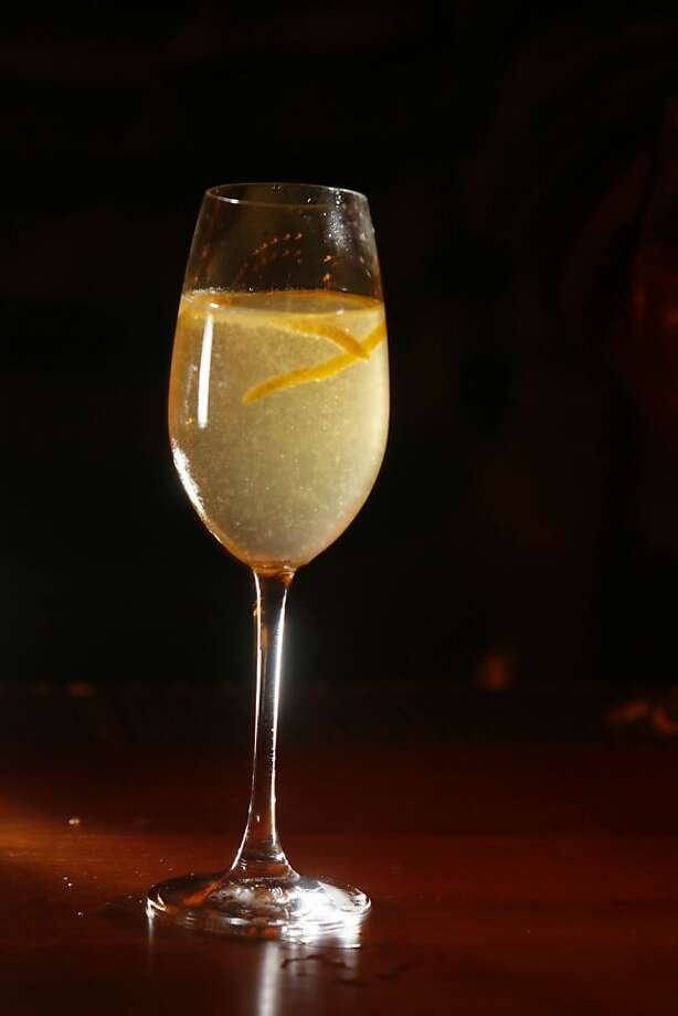 A champagne cocktail photographed at Coco500  in San Francisco, Calif. on Tuesday, November 25, 2008. Photo: Lea Suzuki, The Chronicle