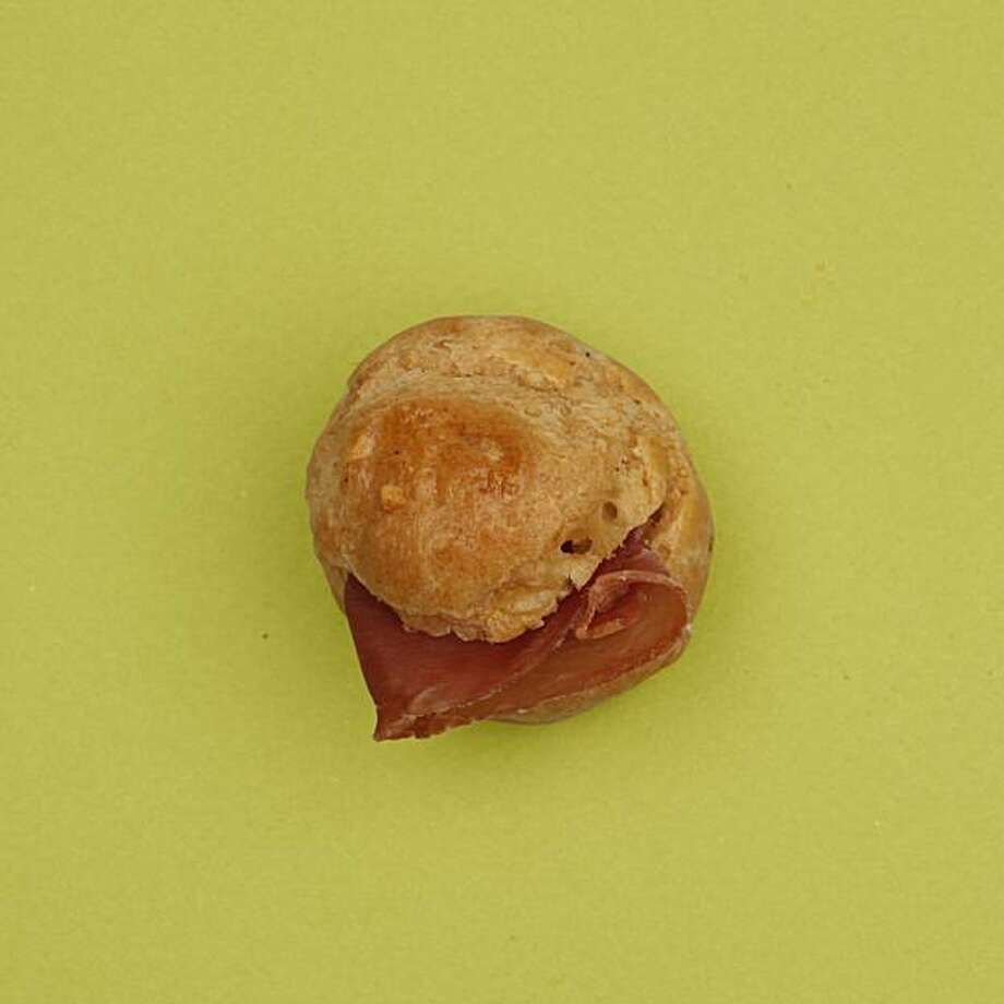 Gougere Puffs with Prosciutto in San Francisco, Calif., on December 3, 2009. Food styled by Kalena Ross and Sarah Fritsche. Photo: Craig Lee, Special To The Chronicle