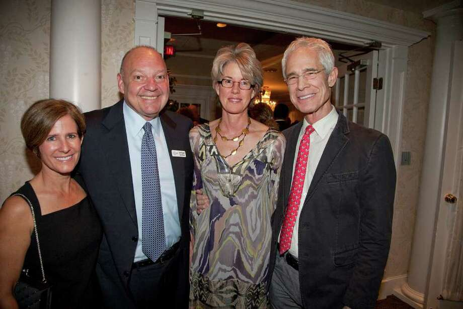 From left, Leslie Caruso of Darien, John Filippelli of Greenwich and Trudie and Ben Larrabee of Darien at the recent Make-A-Wish Foundation Celebrating Wishes Ball. Photo: Contributed Photo