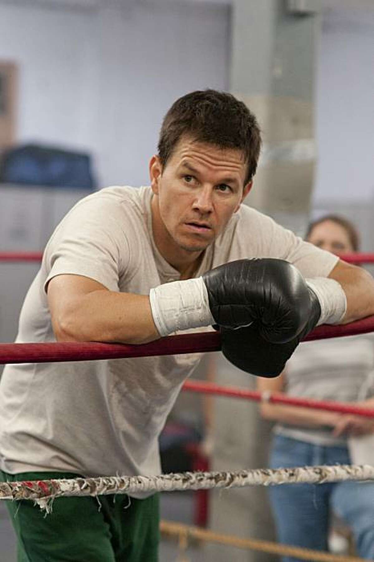 """In this publicity image released by Paramount Pictures, Mark Wahlberg, is shown in a scene from, """"The Fighter."""" Wahlberg was nominated for a Golden Globe for best actor in a motion picture drama, Tuesday, Dec. 14, 2010, for his role in """"The Fighter."""" TheGolden Globe awards will air on Jan. 16 on NBC."""