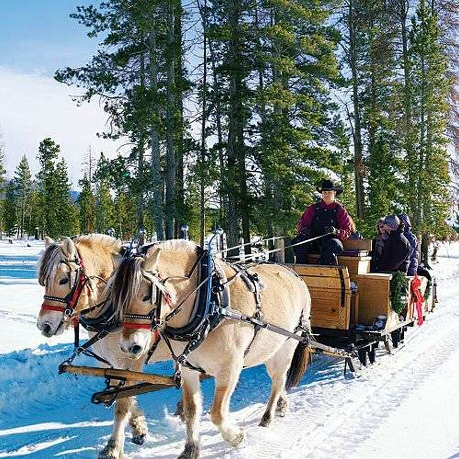 Go back in time in Grand Lake, CO  Celebrate an old school Colorado Christmas in with sleigh rides, ice skating, and hot chocolate surrounded by snow-covered peaks.  More: Attractions in Grand Lake Photo: Sunset.com