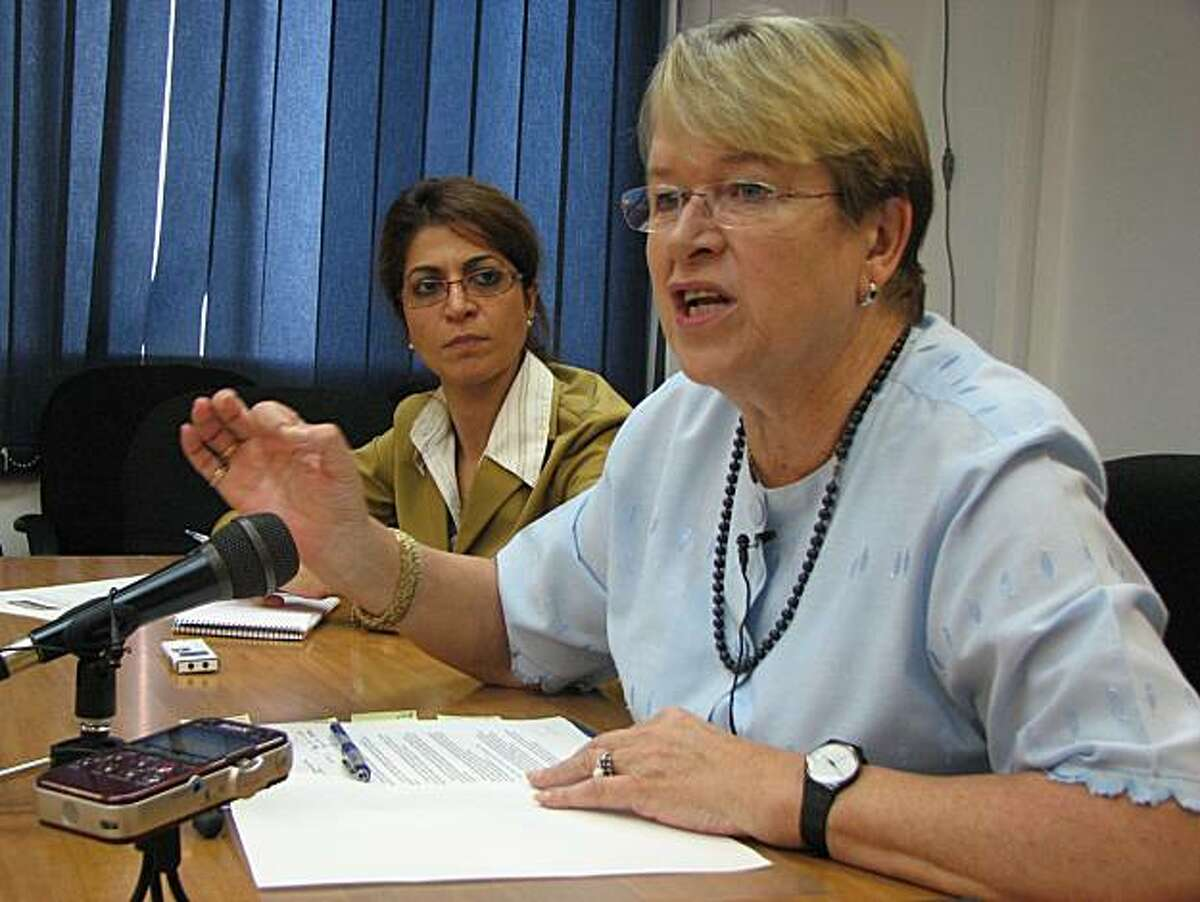 Ellen Margrethe Log, head of UN peacekeeping in Liberia, briefed American journalists on Nov. 9.