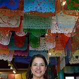 Nancy Charraga in her store Casa Bonampak,  a Mexican folk art store in the Mission District, in San Francisco, Calif., on Thursday, October 8, 2009.  Charraga got help to improve her business through the Women's Initiative for Self Employment.