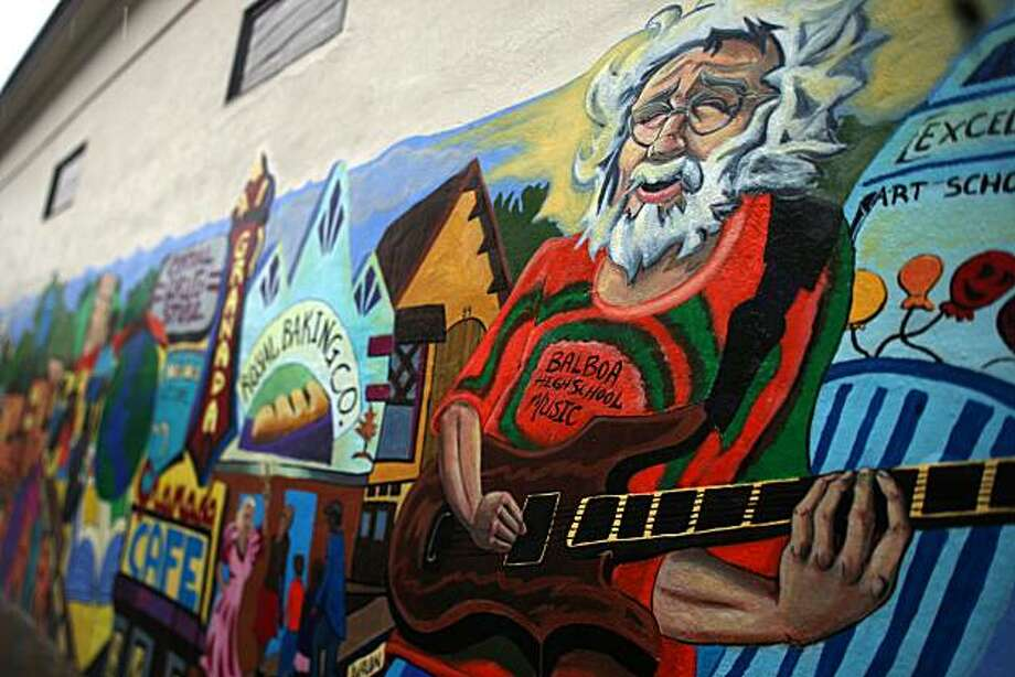 A mural of the Excelsior painted by Jason Gilmore in 2009 on the building of Central Drug on Santa Rosa at Mission streets in San Francisco, Calif., on Wednesday, March 31, 2010. Photo: Liz Hafalia, The Chronicle