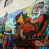 A mural of the Excelsior painted by Jason Gilmore in 2009 on the building of Central Drug on Santa Rosa at Mission streets in San Francisco, Calif., on Wednesday, March 31, 2010.