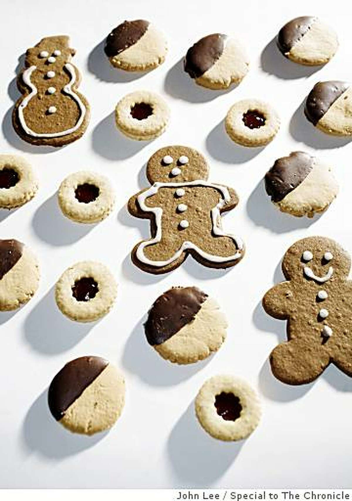 COOKIE10_02_JOHNLEE.JPG Chocolate covered peanut cookies and gingerbread cookies. By JOHN LEE/SPECIAL TO THE CHRONICLE