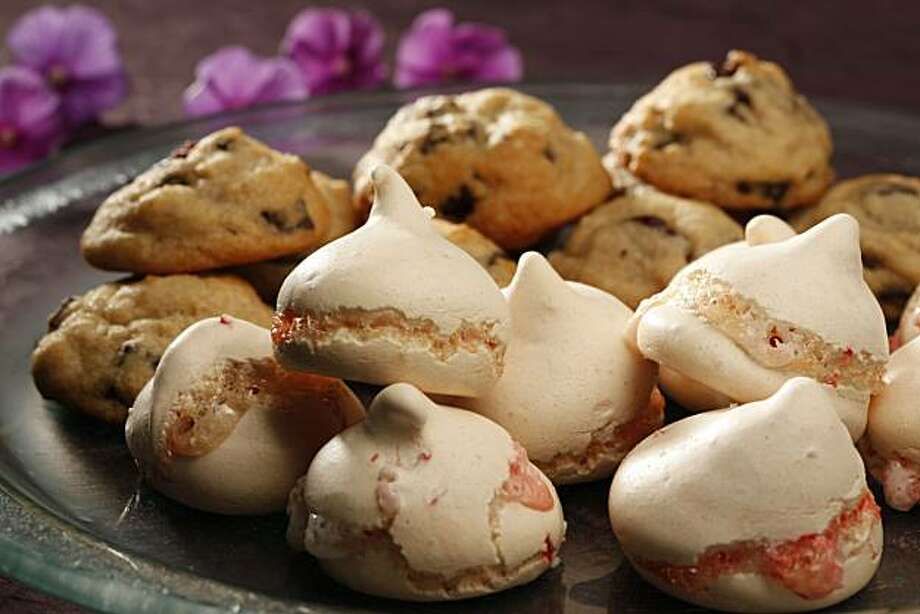 Peppermint Meringues: These festive meringues can baked in advance, frozen and either served frozen for a crisp texture or thawed for a chewier bite. Click here for the recipe. Photo: Craig Lee, Special To The Chronicle