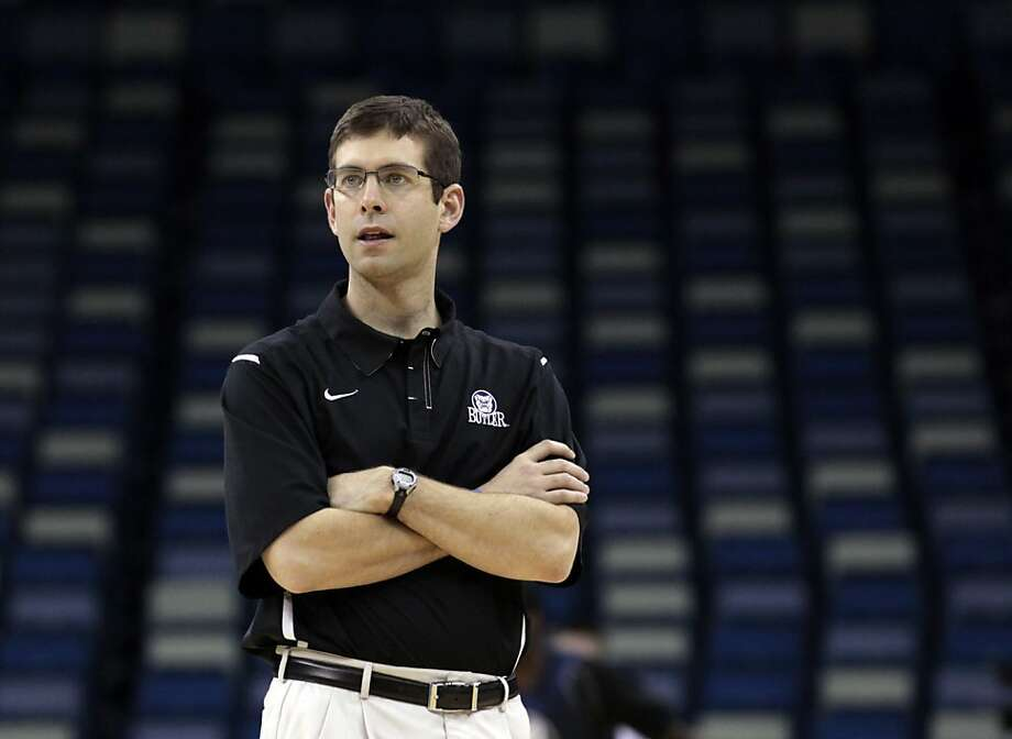 Butler head coach Brad Stevens watches his players during a practice session for their NCAA Southeast regional college basketball semifinal game Wednesday, March 23, 2011, in New Orleans. Butler plays Wisconsin on Thursday, March 24. Photo: Gerald Herbert, Associated Press