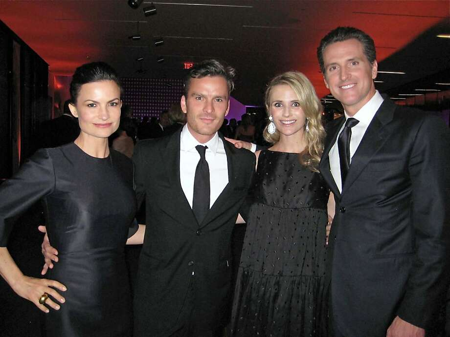Rosetta Getty and her husband, actor Balthazar Getty (left) with Jennifer Siebel Newsom and her husband, Lt. Governor Gavin Newsom. March 2011. By Catherine Bigelow. Photo: Catherine Bigelow, Special To The Chronicle