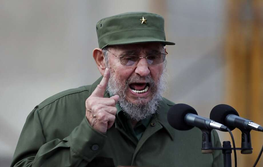 FILE - In this Sept. 28, 2010, file photo, Cuba's leader Fidel Castro delivers a speech during the 50th anniversary of the Committee for the Defense of the Revolution, CDR, in Havana, Cuba. Castro said Tuesday, March 22, 2011, he resigned five years ago from all his official positions, including head of Cuba's Communist Party, a position he was thought to still hold. Photo: Javier Galeano, AP