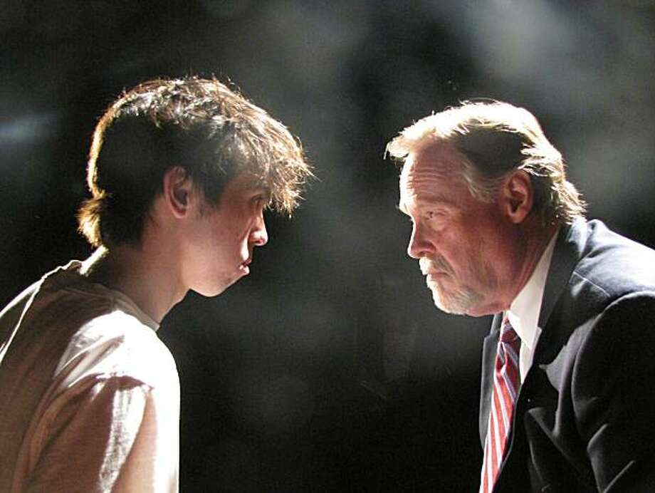 "Sean Gilvary and Steve Lambert star in City Lights Theater's production of ""Equus"" Photo: Kit Wilder"