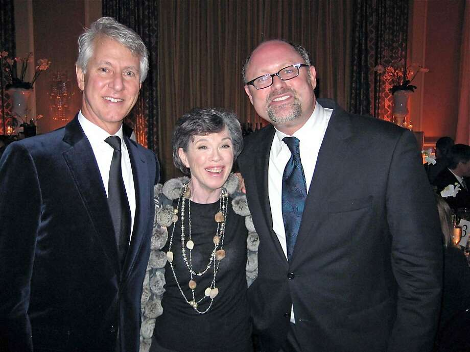 CalShakes honorary party co-chairs Jeff and Carole Shorenstein Hays (left) with CalShakes Artistic Director Jonathan Moscone. March 2011. By Catherine Bigelow. Photo: Catherine Bigelow, Special To The Chronicle