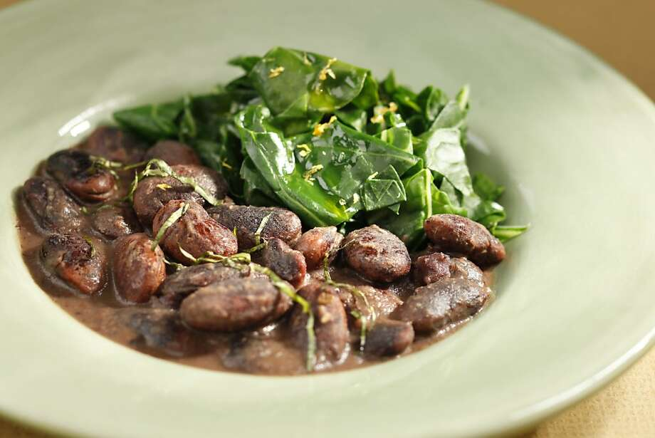Beans and chard. Food styled by Lynne Char Bennett. Photo: Craig Lee, Special To The Chronicle
