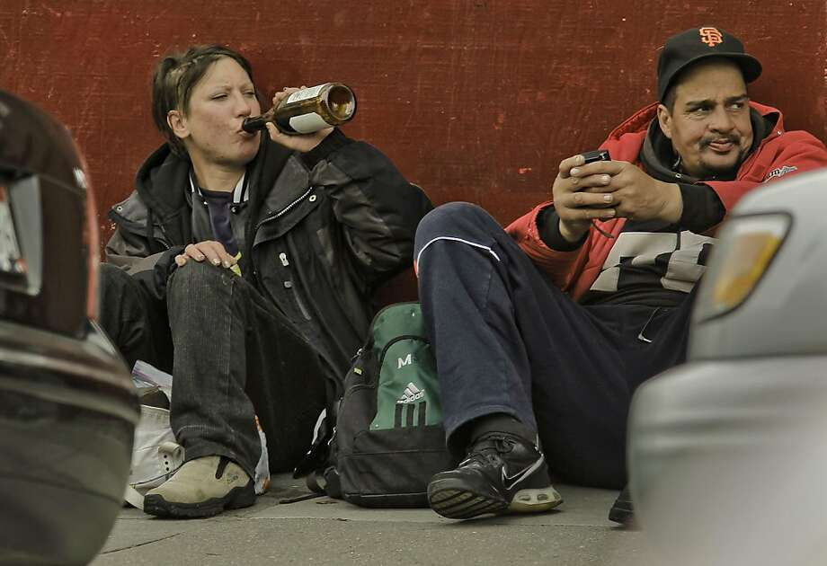 Drinking along Haight Street, on Friday Mar. 25, 2011, in San Francisco, in the Haight Asbury neighborhood. Photo: Michael Macor, The Chronicle