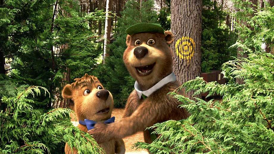 "(L-r) Boo Boo, as voiced by JUSTIN TIMBERLAKE, and Yogi Bear, as voiced by DAN AYKROYD, in Warner Bros. Pictures' live-action/computer-animated adventure in 3D, ""YOGI BEAR,"" a Warner Bros. Pictures release. Photo: Courtesy Of Warner Bros. Picture, Courtesy Warner Bros."