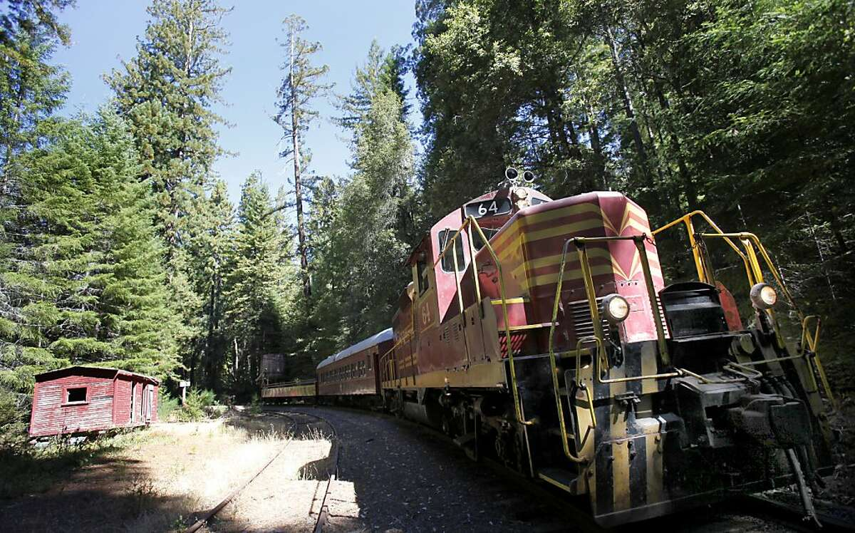 The Skunk Train, which travels between Willits and Fort Bragg on the coast, runs right through the new 428 acre plot being purchased by Save the Redwoods League. Save the Redwoods League has a 428 acre property high in the Noyo River watershed of Mendocino County to purchase from the Willits Redwood Company.