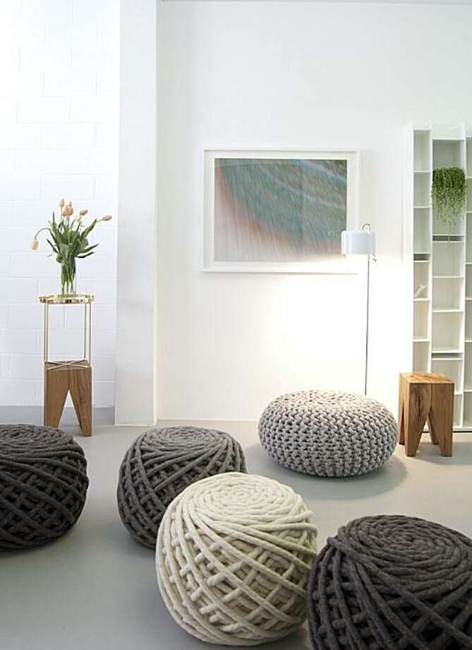 Urchin Poufs from Dutch-based Christien Meindertsma, available at Supernatural, a new showroom and interior design studio in Potrero Hill. Photo: Devon Elizabeth Butler