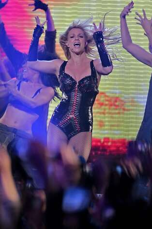 Pop legend Britney Spears performs at the Bill Graham Civic Auditorium for the Good Morning America Spring Concert Series, Sunday March 27, 2011, in San Francisco, Calilf. Spears performed three songs to introduce her new album Femme Fatale which goes on sale Tuesday. Photo: Lacy Atkins, The Chronicle