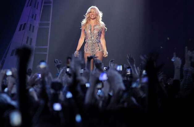Popstar princess  Britney Spears performs at the Bill Graham Civic Auditorium for the Good Morning America Spring Concert Series, Sunday March 27, 2011, in San Francisco, Calilf. Spears performed three songs to introduce her new album Femme Fatale which goes on sale Tuesday. Photo: Lacy Atkins, The Chronicle