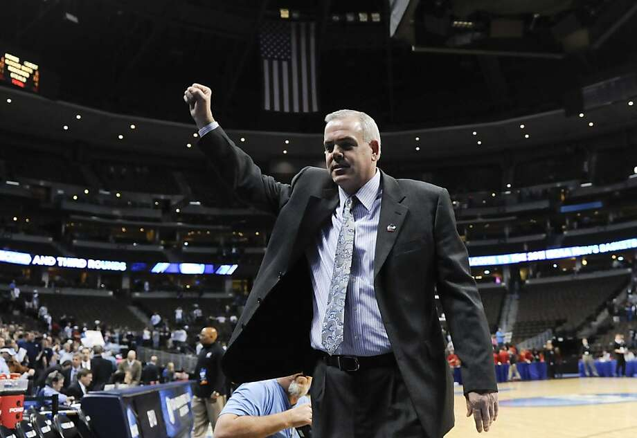 BYU coach Dave Rose walks off the court after defeating Gonzaga 89-67 in a Southeast regional third round NCAA tournament college basketball game, Saturday, March 19, 2011, in Denver. Photo: Jack Dempsey, AP