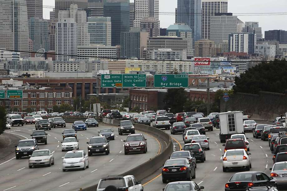 A stretch of I-80 and Highway 101 including where it passes over 15th to 17th Street in San Francisco is seen on Tuesday, March 22, 2011 in San Francisco, Calif. Photo: Lea Suzuki, The Chronicle
