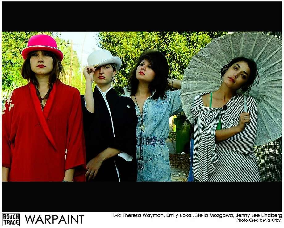 From left: Theresa Wayman, Emily Kokal, Stella Mozgawa and Jenny Lee Lindberg of Warpaint. Photo: Mia Kirby