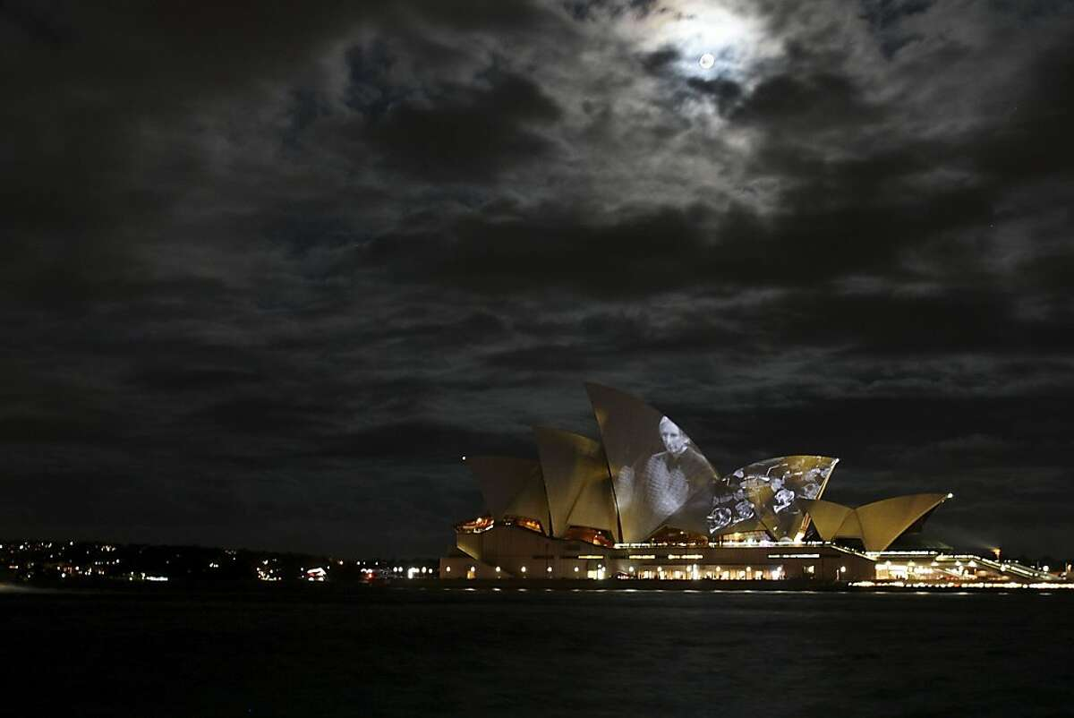 SYDNEY, AUSTRALIA - MARCH 20: Artwork is projected onto the Sydney Opera House during the finale of the YouTube Symphony Orchestra on March 20, 2011 in Sydney, Australia. Musicians from over thirty countries were selected to perform as part of the YouTube Symphony Orchestra after submitting a video audition to YouTube that was voted on by the public. The amatuer and professional participants, ranging from age 14 to age 49, were flown to Sydney for one week to particpate in free public concerts and a sold-out finale performance at the Sydney Opera House. The entire performance was projected on the iconic Opera House sails and streamed live online via Youtube.