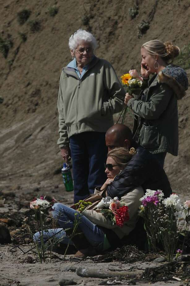 Friends and family gathered on the beach at Pillar Point  near the Mavericks surf break to pay tribute to Sion Milosky, 35, on Thursday, March 17, 2011 in Half Moon Bay, Calif. Milosky died while surfing on Wednesday at the Mavericks surf break north of Half Moon Bay. Photo: Lea Suzuki, The Chronicle