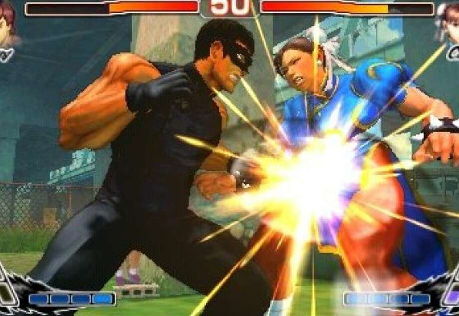 Super Street Fighter IV 3D is a portable version of the long running fighting game that features a 3D viewing mode along with new costumes and game modes. Photo: Capcom