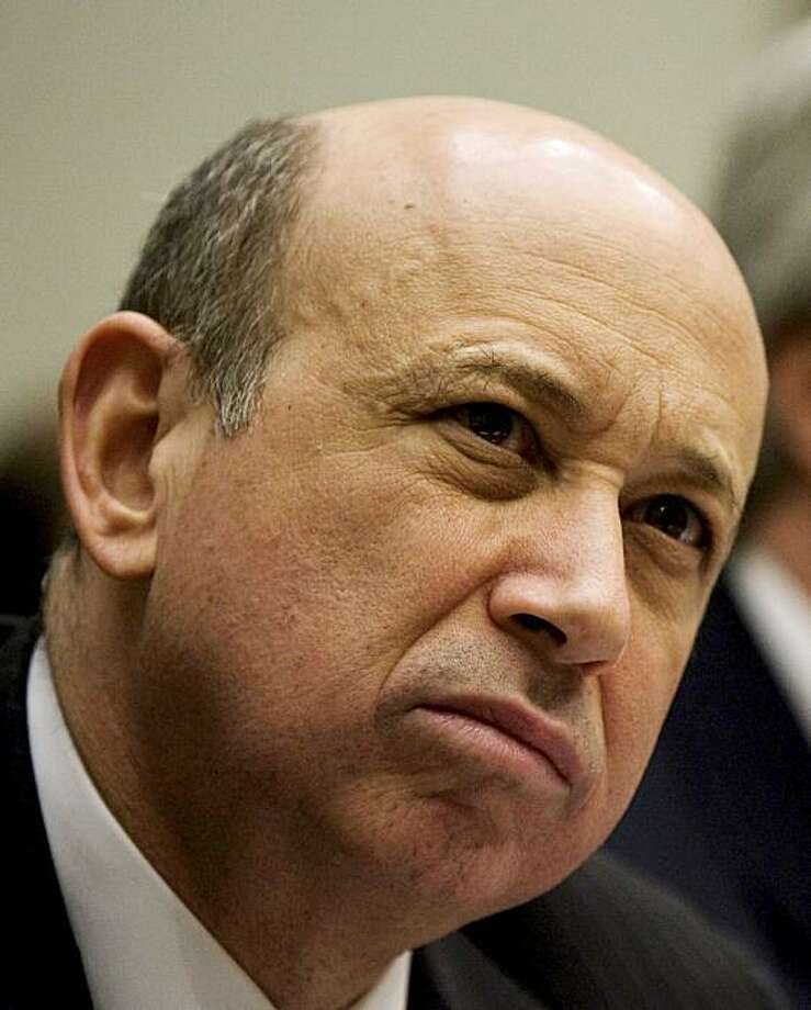 FILE - In this Feb. 11, 2009 file photoGoldman Sachs & Co. Chief Executive Officer Lloyd Blankfein testifies on Capitol Hill in Washington before the House Financial Services Committee. Goldman Sachs Group Inc.'s top executives will not receive cash bonuses this year, as the Wall Street giant bows to sharp criticism over its pay practices. (AP Photo/Manuel Balce Ceneta, file) Photo: Manuel Balce Ceneta, AP