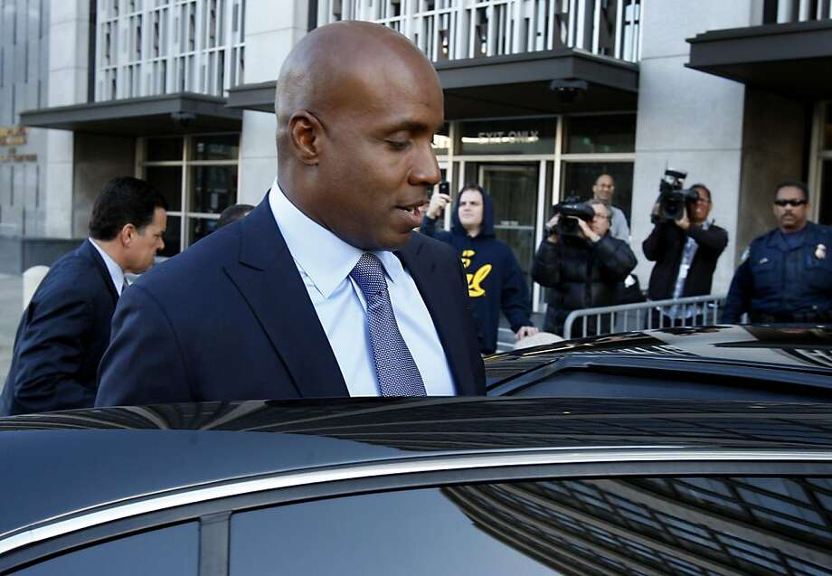 Barry Bonds leaves the Federal Building in San Francisco after being arraigned Tuesday. Photo: Brant Ward, The Chronicle