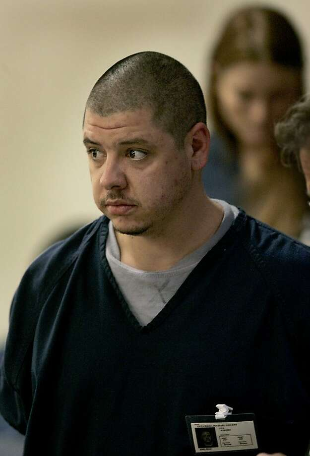 Michael Vincent Gutierrez, 26, appears in Sonoma County Superior court Thursday Dec. 3, 2009 along with Amber Marie True, background, in Santa Rosa, Calif..  The two are charged with breaking into the home of John and Susan Maloney of Sonoma. The Maloneys and their two children, Aiden and Grace, were killed in a crash Saturday night at Highway 37 and Lakeville Highway, along with the other driver, 19-year-old Steven Culbertson. (AP Photo/The Press Democrat, Kent Porter) Photo: Kent Porter, AP