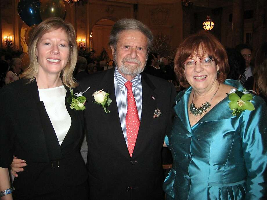 Commonwealth Club Distinguished Citizen Award honorees (from left) Janet Lamkin, Tad Taube and Mary Cranston at the Palace Hotel. March 2011. By Catherine Bigelow. Photo: Catherine Bigelow, Special To The Chronicle