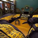 three rings office. a game room with tentacle cushions at the online company three rings office