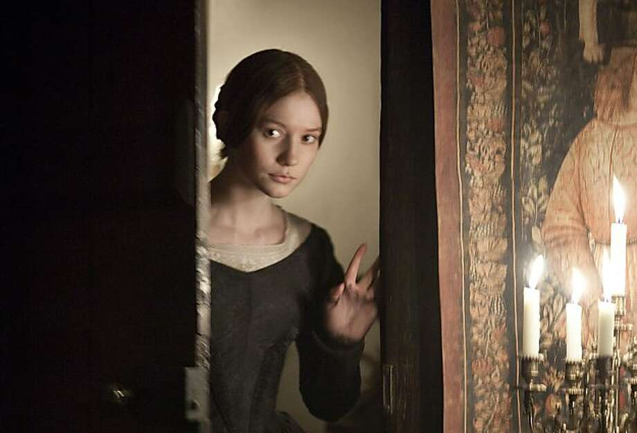 """In this film publicity image released by Focus Features, Mia Wasikowska is shown in a scene from """"Jane Eyre."""" Photo: Laurie Sparham, AP"""