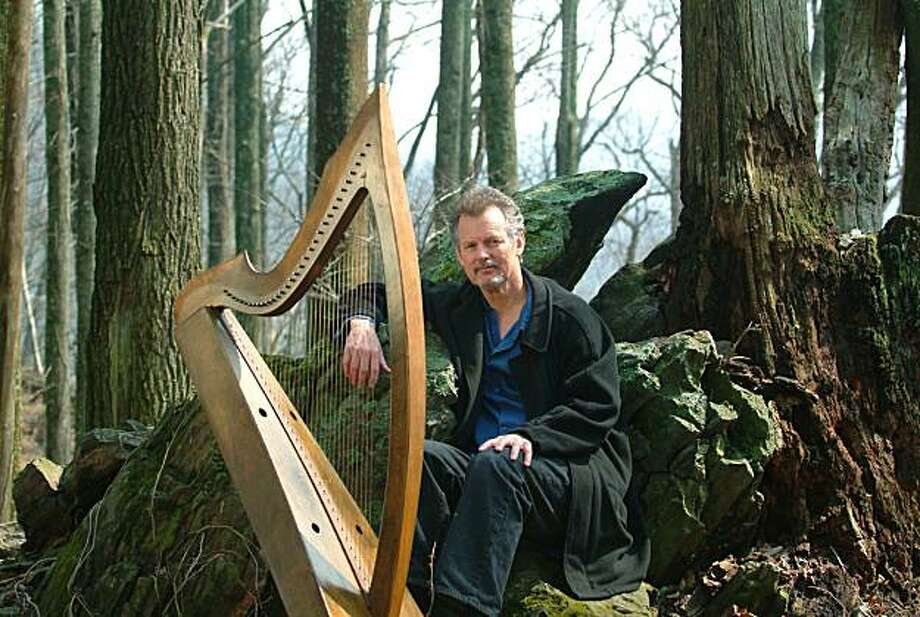 Celtic harpist and spoken-word artist Patrick Ball will perform March 25 at St. Patrick's Church in San Francisco as part of the Crossroads Irish-American Festival. Photo: Jon Michael Riley