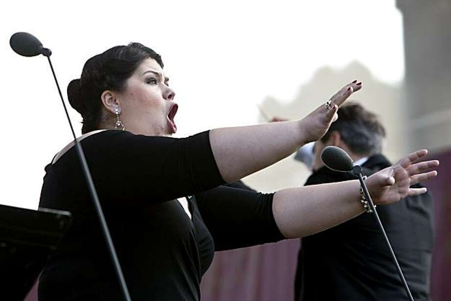 "Leah Crocetto sings ""Bimba, dagli occhi pieni"" from Madama Butterfly during Opera in the Park in Golden Gate Park in San Francisco, Calif. on Sunday, September 12, 2010. Photo: Laura Morton, Special To The Chronicle"